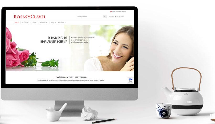 Rosas y Clavel Floreria tienda virtual