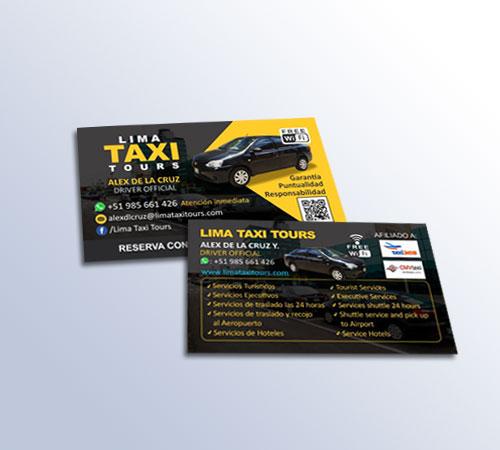 Tarjetas Lima Taxi Tours
